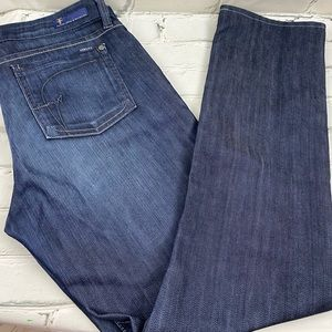 Fidelity straight leg dark wash jeans